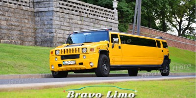 Yellow Hummer H2 Limo